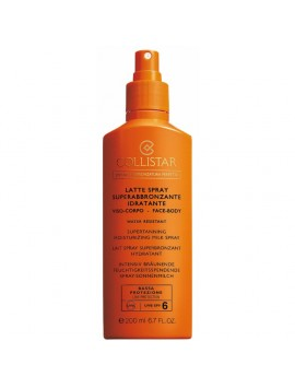 Collistar LATTE SPRAY Superabbronzante Idratante Viso e Corpo SPF6 200ml