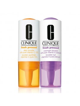 Clinique Fresh Pressed Clinical Daily and Overnight Boosters With Pure Vitamins C 10% + A (Retinol)