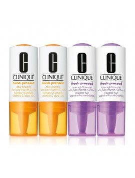 Clinique Fresh Pressed Clinical Daily and Overnight Boosters With Pure Vitamins C 10% + A (Retinol) 2+2